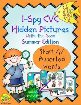 I-Spy CVC Hidden Pictures -- Short /i/ Assorted Words (Summer Edition)