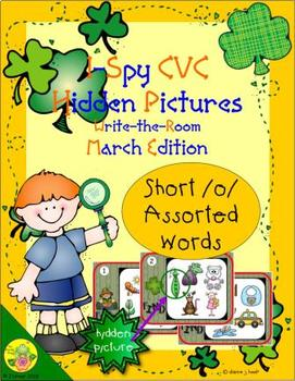 I-Spy CVC Hidden Pictures -- Short /o/ Assorted Words (March Edition)