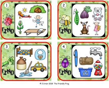 I-Spy CVC Hidden Pictures -- Short /o/ Assorted Words (May Edition)