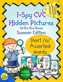 I-Spy CVC Hidden Pictures -- Short /o/ Assorted Words (Summer Edition)