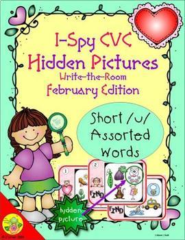 I-Spy CVC Hidden Pictures -- Short /u/ Assorted Words (February Edition)