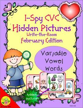 I-Spy CVC Hidden Pictures -- Variable Vowel Words (February Edition)
