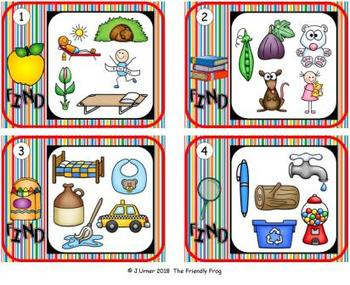 I-Spy CVC Hidden Pictures -- Variable Vowel Words (September Edition)