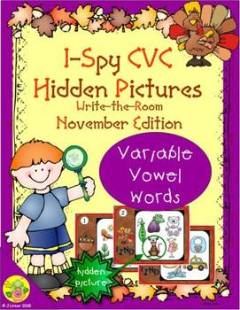 I-Spy CVC Hidden Pictures -- Variable Vowel Words (November Edition)