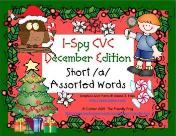 I-Spy CVC Learning Centers - Short /a/ Assorted Words (December Edition)