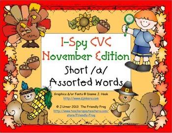 I-Spy CVC Learning Centers - Short /a/ Assorted Words (Nov