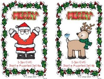 I-Spy CVC Learning Centers - Short /e/ Assorted Words (December Edition)
