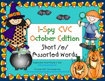 I-Spy CVC Learning Centers - Short /e/ Assorted Words (October Edition)