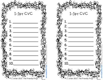 I-Spy CVC Learning Centers - Short /i/ Assorted Words (December Edition)