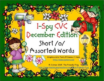 I-Spy CVC Learning Centers - Short /o/ Assorted Words (December Edition)