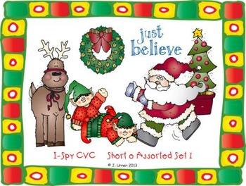 I-Spy CVC Learning Centers - Short /o/ Assorted Words (December Edition)