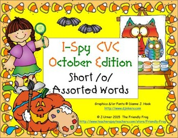 I-Spy CVC Learning Centers - Short /o/ Assorted Words (October Edition)