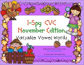 I-Spy CVC Learning Centers - Variable Vowel Words (Novembe