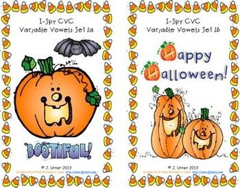 I-Spy CVC Learning Centers - Variable Vowel Words (October Edition)