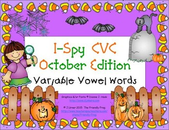 I-Spy CVC Learning Centers - Variable Vowel Words (October