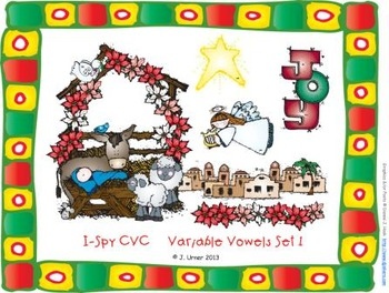 I-Spy CVC Learning Centers - Variable Vowel Words Words (December Edition)