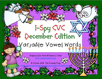 I-Spy CVC Learning Centers - Variable Vowel Words Words (D