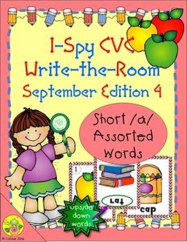 I-Spy CVC Mirror Words - Short /a/ Assorted Words (September Edition) Set 4