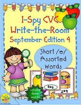 I-Spy CVC Mirror Words - Short /e/ Assorted Words (September Edition) Set 4