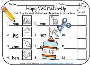 I-Spy CVC Match-Up - Assorted Vowels (December Edition)