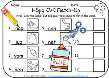 I-Spy CVC Match-Up - Assorted Vowels (March Edition)