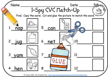 I-Spy CVC Match-Up - Assorted Vowels (October Edition)