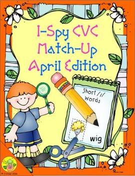 I-Spy CVC Match-Up - Short /i/ Assorted Words (April Edition)