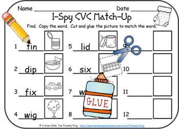 I-Spy CVC Match-Up - Short /i/ Assorted Words (December Edition)