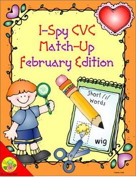 I-Spy CVC Match-Up - Short /i/ Assorted Words (February Edition)