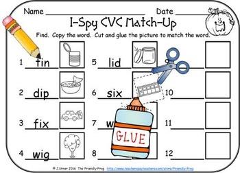 I-Spy CVC Match-Up - Short /i/ Assorted Words (October Edition)