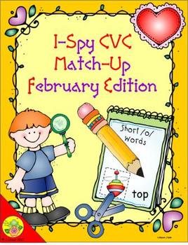 I-Spy CVC Match-Up - Short /o/ Assorted Words (February Edition)