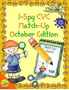 I-Spy CVC Match-Up - Short /o/ Assorted Words (October Edition)