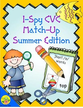 I-Spy CVC Match-Up - Short /o/ Assorted Words (Summer Edition)