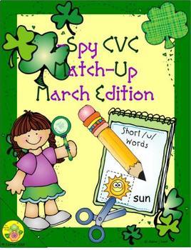 I-Spy CVC Match-Up - Short /u/ Assorted Words (March Edition)