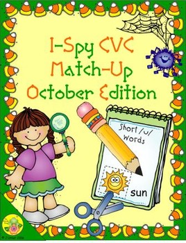 I-Spy CVC Match-Up - Short /u/ Assorted Words (October Edition)