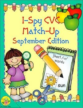 I-Spy CVC Match-Up - Short /u/ Assorted Words (September Edition)