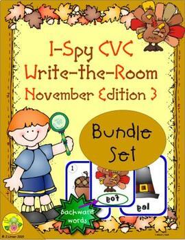 I-Spy CVC Mirror Words Bundle (November Edition) Set 3