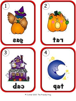 I-Spy CVC Mirror Words - Short /a/ Assorted Words (October Edition) Set 3