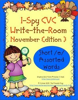 I-Spy CVC Mirror Words - Short /e/ Assorted Words (November Edition) Set 3