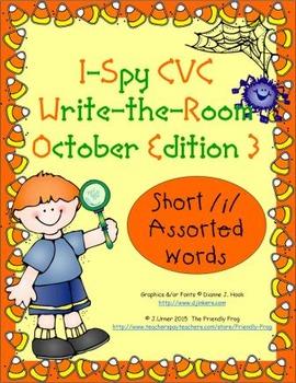 I-Spy CVC Mirror Words - Short /i/ Assorted Words (Oct. Ed