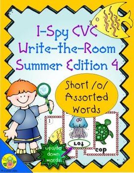 I-Spy CVC Mirror Words - Short /o/ Assorted Words (Summer Edition) Set 4
