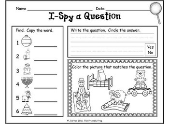 I-Spy CVC Questions - Assorted Vowels (December Edition)