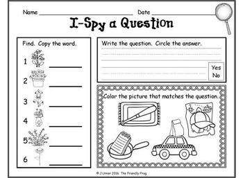 I-Spy CVC Questions - Short /a/ Words (April Edition)