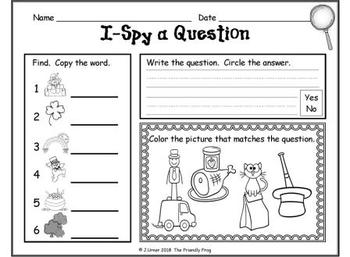 I-Spy CVC Questions - Short /a/ Words (March Edition)
