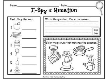 I-Spy CVC Questions - Short /a/ Words (September Edition)