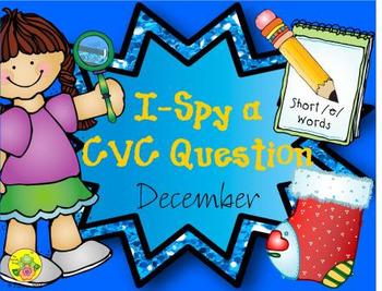I-Spy CVC Questions - Short /e/ Words (December Edition)