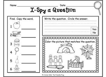 I-Spy CVC Questions - Short /e/ Words (September Edition)