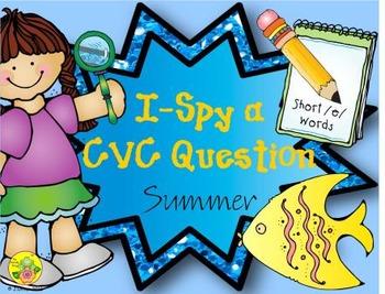 I-Spy CVC Questions - Short /e/ Words (Summer Edition)