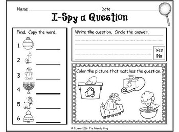 I-Spy CVC Questions - Short /i/ Words (December Edition)
