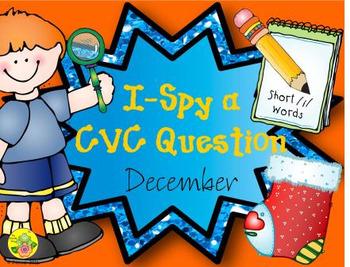 I-Spy CVC Questions - Short /i/ Words (December Edition)